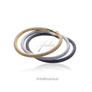 Zestaw bransoletek srebrnych włoskich - 2835353462