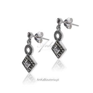 Biżuteria Srebrne kolczyki z wyjątkowymi markazytami - 2835351671