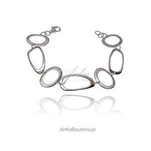 Modna bransoletka srebrna rodowana - 2835352683