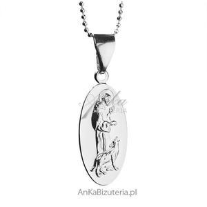 Medalik srebrny św Franciszek z Asyżu - 2837520219