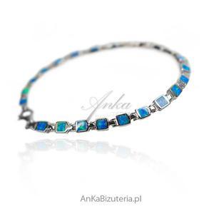 Modna biżuteria z kamieniami - Opal niebieski australijski - 2852734173