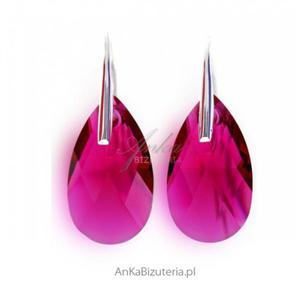 Klasyczne Kolczyki Swarovski -rubinowe - 2835352104