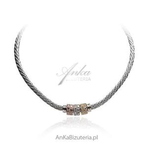 Naszyjnik srebrny Biżuteria włoska - 2835352750