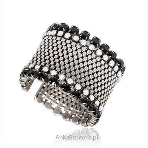 Modna biżuteria -szeroka elegancka bransoleta - 2845505546