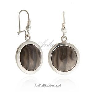 Kolczyki srebrne z krzemieniem pasiastym - 2835352371