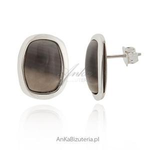 Kolczyki srebrne z krzemieniem pasiastym - 2835352372