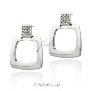 Eleganckie kolczyki srebrne Swarovski - 2835352073