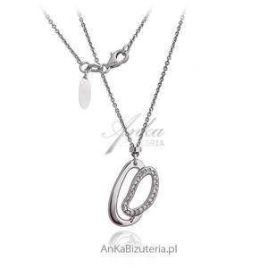 Naszyjnik srebrny rodowany Oryginalna biżuteria srebrna - 2835352804