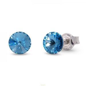 Kolczyki wkrętki Swarovski - błękitne - 2849411217