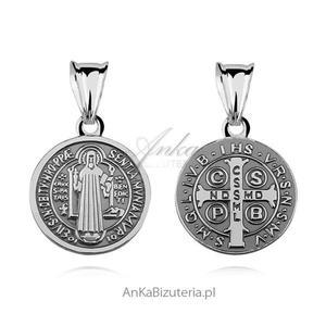 Medalik Św. Benedykt - Srebrny medalik - 2835352647