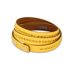 Piękna bransoletka Swarovski - żółta - 2835352976