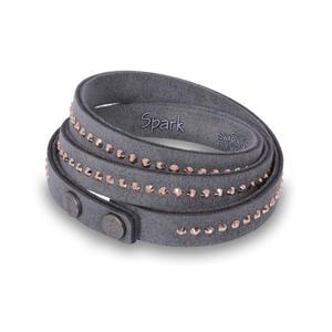 Oryginalna biżuteria Swarovski - bransoletka Swarovski szara - 2842072768