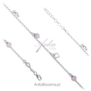 Srebrne bransoletka z przywieszkami Modna biżuteria - 2835353144