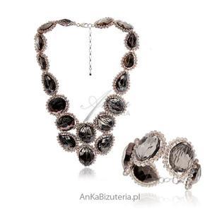 Elegancki Komplet Biżuterii z kamieniami naturalnymi - 2835352059