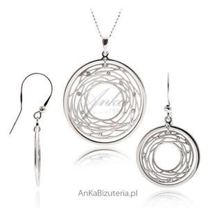 Komplet biżuterii srebrnej Modna biżuteria na Prezent - 2835352474