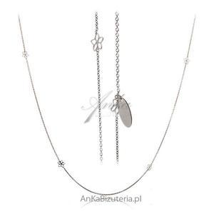 Delikatny naszyjnik w ażurowe Kwiatki - Biżuteria włoska - 2835351975