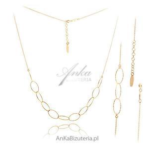 Komplet biżuterii srebrnej pozłacany - 2835352478
