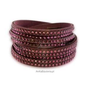 Modna biżuteria : Bransoletka Swarovski - fioletowa - 2835352661