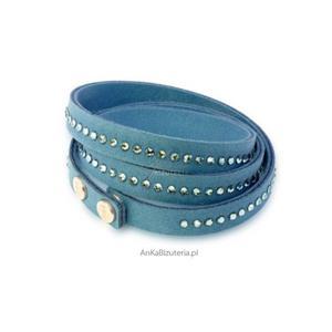 Swarovski biżuteria - bransoletka z kryształami Swarovski niebieska - 2846332955