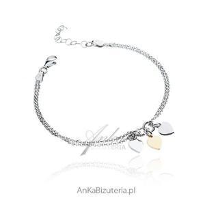 Srebrna bransoletka Serduszka - Piękna biżuteria włoska - 2837520232