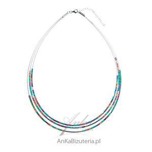 Biżuteria srebrna_ Naszyjnik srebrny z hematytem - 2835351670