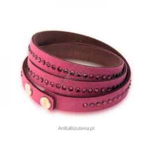 Biżuteria Swarovski : Bransoletka z kryształów w kolorze Amethyst - 2835351677