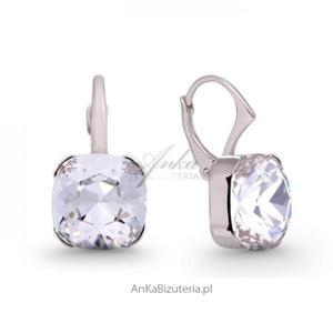 Swarovski biżuteria: Kolczyki srebrne z kryształami Swarovski - 2835353270