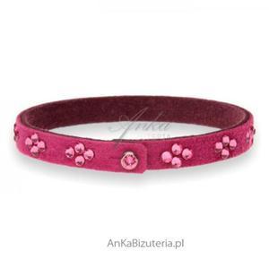 Swarovski biżuteria Modna bransoletka Swarovski Fuksja - 2846332956