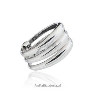 Modna biżuteria srebrna potrójny pierścionek - 2835352672