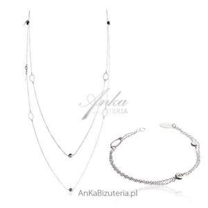 Komplet biżuterii włoskiej Modna biżuteria srebrna - 2835352518