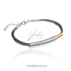Bransoleta srebrna damska Modna biżuteria damska. - 2835351715