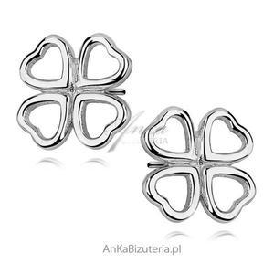 Kolczyki srebrne : koniczynki - 2848520929