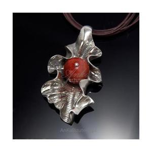 Modny wisiorek ze srebra KORALOWA JESIEŃ. - 2835352701