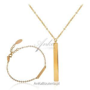 Komplet biżuterii srebrnej pozłacany - 2835352479