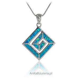 """Biżuteria srebrna"" - wisior srebrny z opalem - 2835351503"