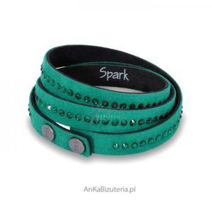 Bransoletka swarovski zielona - 2835351910