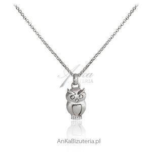 Naszyjnik srebrny srebrna sówka - 2835352808