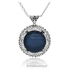 Wisior srebrny z granatowym uleksytem - 2835353317