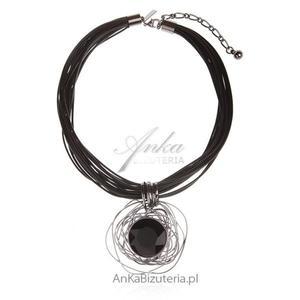 Modna biżuteria damska Naszyjnik na czarnych sznurkach - 2835352664