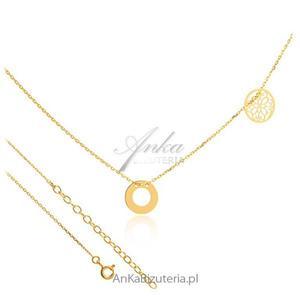 Naszyjnik gwiazd - Naszyjnik srebrny pozłacany z delikatnymi przywieszkami - 2835352721