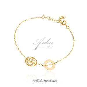 Biżuteria srebrna - Bransoletka srebrna z delikanymi ażurowymi przywieszkami - 2835351594