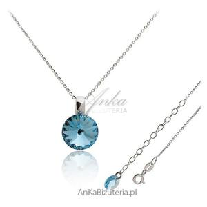 Biżuteria srebrna: Naszyjnik srebrny Swarovski Kolor Aqua