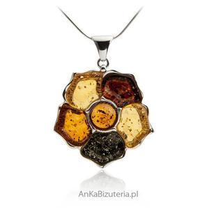 Biżuteria srebrna Bizuteria artystyczna z bursztynem - 2837314162