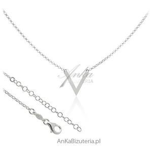 Modny naszyjnik srebrny V - 2835352696