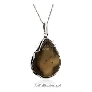 Zawieszka srebrna bursztyn Unikalna biżuteria - 2835353411
