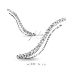 Nausznice kolczyki srebrne cyrkonie - CENA ZA PARĘ! - 2853769449