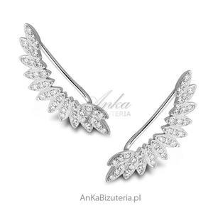 NAUSZNICE srebrne skrzydła z cyrkoniami - 2848520942