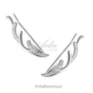 Modna biżuteria srebrna Kolczyki Nausznice - 2835352670