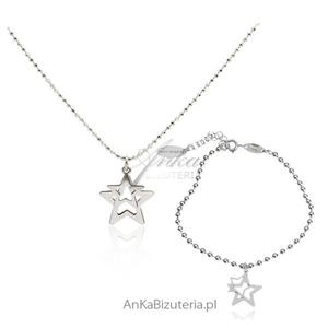 Włoski komplet srebrny Gwiazdki - 2835353393