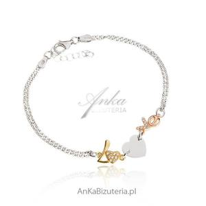 Biżuteria damska Bransoletka srebrna - Love - 2853380177